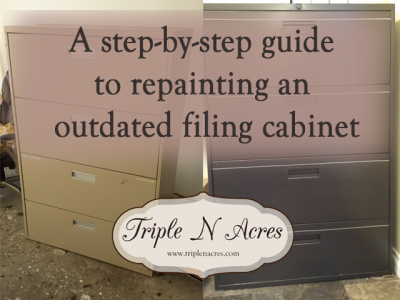 How to repaint your filing cabinet